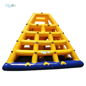 Inflatable Pyramid Adult Interactive Floating Slide Water Toys Game