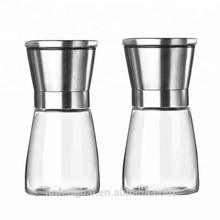 Classic Stainless Steel Grinder/Glass Salt and Pepper Mill