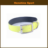 Bright color fluo yellow padding soft neoprene designed own dog collar