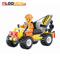 52pcs set Small Crane DIY Building Blocks Children Toy Educational Puzzle Construction Bricks Kids Jigsaw Gifts