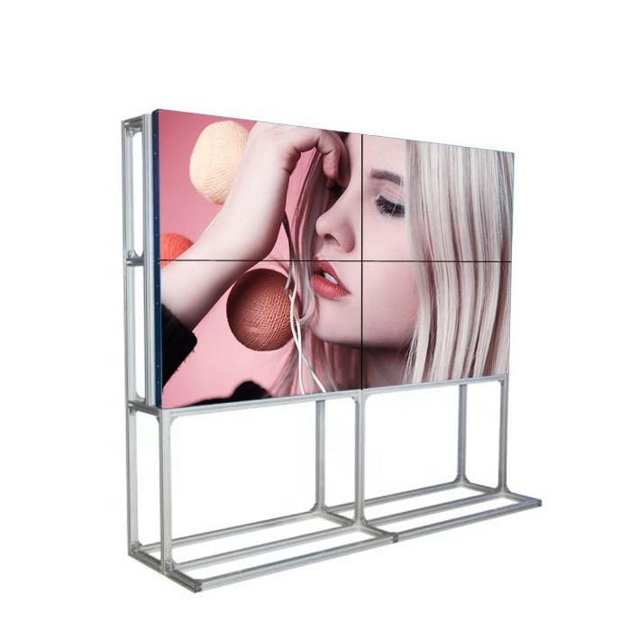 "Unieke Display Nieuwste 46 ""49"" 55 ""65"" Led Backlit Cctv monitor 46 Inch Ultra Smalle Bezel 3.5Mm 2X2 Lcd Floor Stand Video Wall"