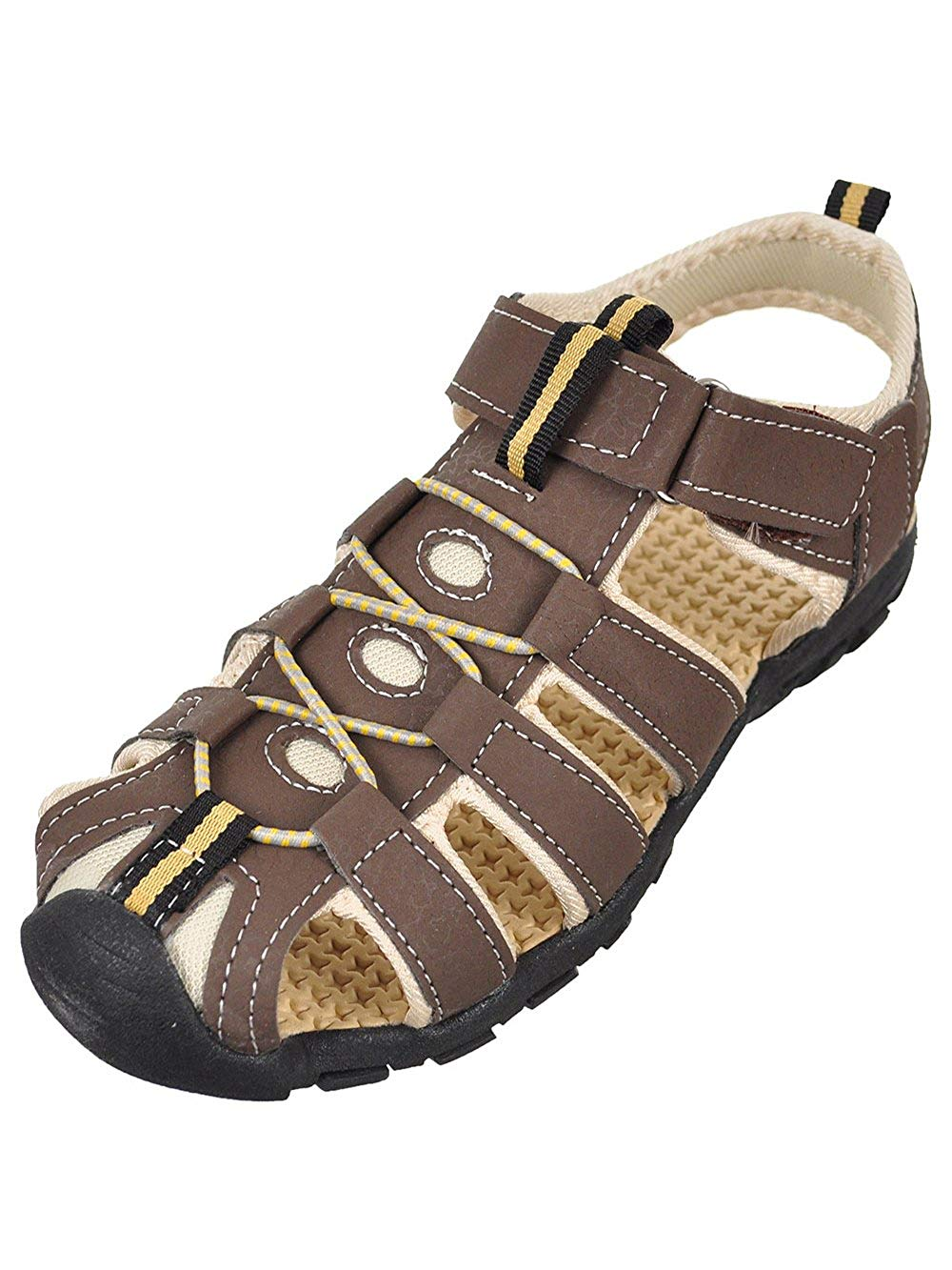6cdc3c699b0e Get Quotations · Rugged Bear Boys  Mountaineer Sport Sandals - Brown