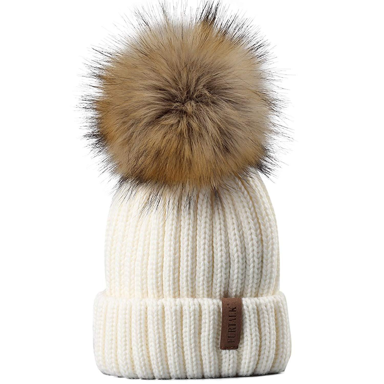 d11a431b2c8 Buy FURTALK Womens Knitted Winter Pom Beanie Hat Faux Fur Pom Pom bobble Hat  beanie for girls in Cheap Price on m.alibaba.com