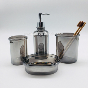 Vintage style 4 piece glass modern accessories set bathroom products