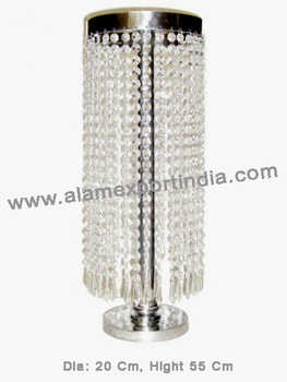 Table Top Chandelier Centerpieces For Weddings Lighted Table Centerpieces  With Drop Crystal