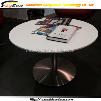 Custom Round Shape Faux Stone Dining Table With Rotating Centre