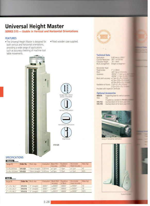 Mitutoyo 515-510 Height Master 0-24 Frequency Counter