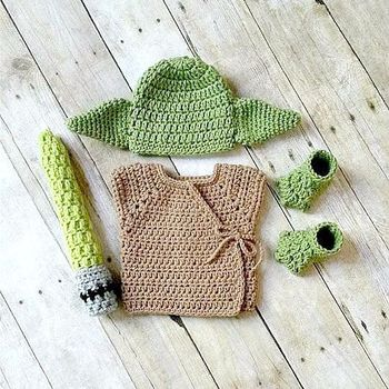 Crochet Yoda Beanie Lightsaber Stars Wars Boutique Baby Clothing