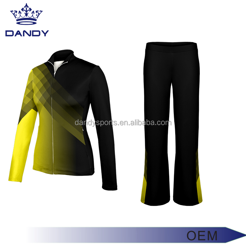 new style black and yellow tech fleece slim fit tracksuit
