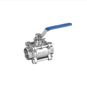 "1/2"" 3/4"" Stainless steel 3 pcs cleaning clamped ball valve price"