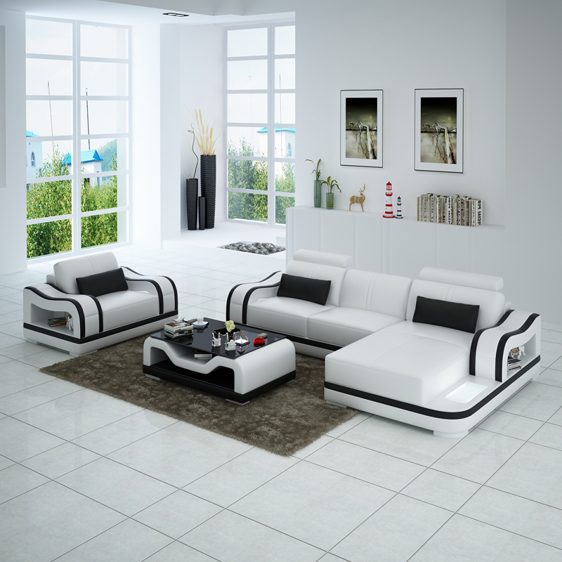 Cbmmart Elegant Wooden Black And White Sofa Set Designs Prices