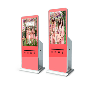 "42"" touch screen portable photo booth print kiosk"