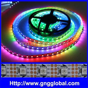 newest dc04a 5107a Dc12v Ws2801b Ic Video Effect Addressable Rgb Led Strip Ws2811b,30/60/100  Pcs 5050,0.72w,Dmx Led Strip - Buy Addressable Rgb Led Strip  Ws2811b,Ws2812b ...