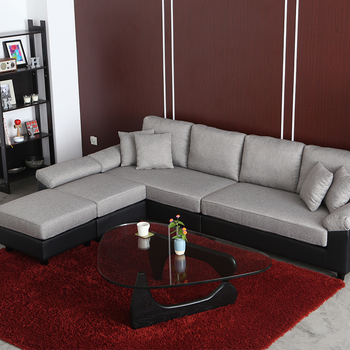 New Design Sectional Fabric Cheap L Shape Sofa