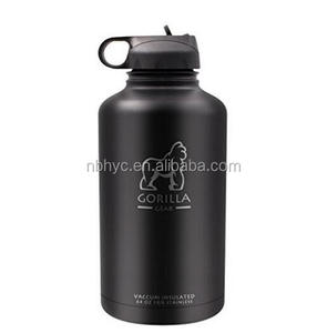 18/8 stainless steel vacuum bottle, Powder coated thermal hydro water bottle, 64oz stainless steel Wide mouth bottle