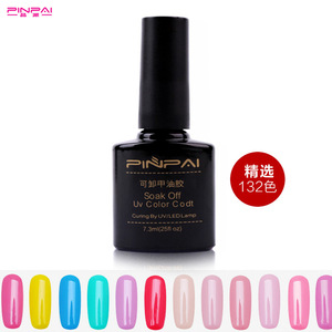 Pinpai brand 132 beautiful colors nail art soak off uv gel gel nail polish