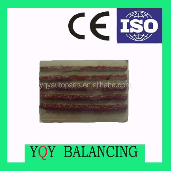 Tire puncture quick seal string rubber sealing string