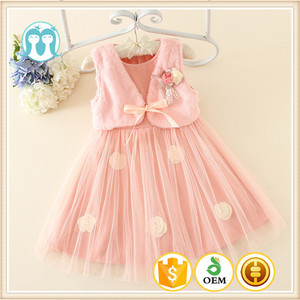Winter Sleeveless Girl Party Dress Fashion Kids Dresses Lovely Baby 1-5years Girls Formal Chilren Clothing Appliqued dress