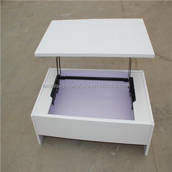 ciseaux rglable hauteur mdf top lift table basse - Table Basse Hauteur Reglable