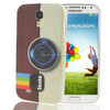 Camera Pattern Plastic Case for Samsung Galaxy S IV / i9500