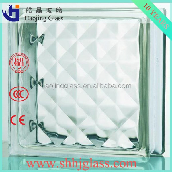 high quality rhombus glass block supplier