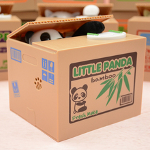2017 new hot electronic panda piggy bank money saving box