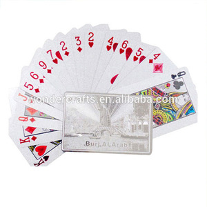 Top quality Dubai building/ Burj Al Arab design normal type plastic promotional playing cards print for gift