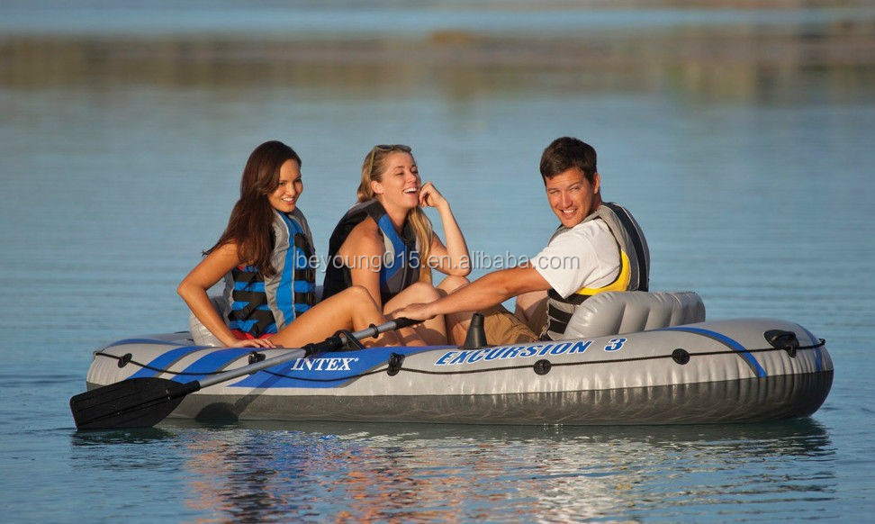 Intex excursion 4 person fishing boat inflatable fishing for 4 person fishing boat