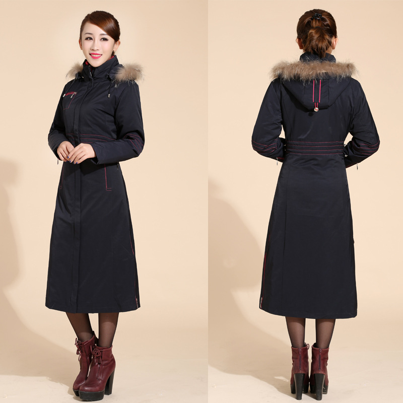 98d05c4e049 Plus Size New Fall And Winter Clothes Woman Long Design Wool Coat Female  Fashion Slim Thin Long  3349Ryan