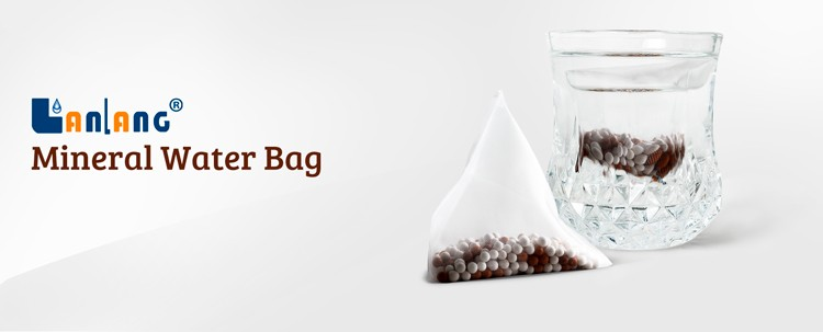 Mineral water tea bag make aqua mineral water