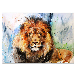 Colorful picture decor abstract wall pop art canvas lion animal oil painting