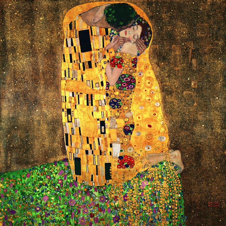 canvas painting figurative print posters art Huge Wall Mural Art Print Poster Myriart art prints The Kiss by Gustav Klimt