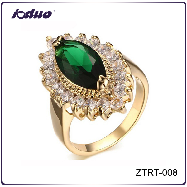 Nobility Jewelry 2016 Fashion Gold-Plated Copper Zircon Wholesale Rings