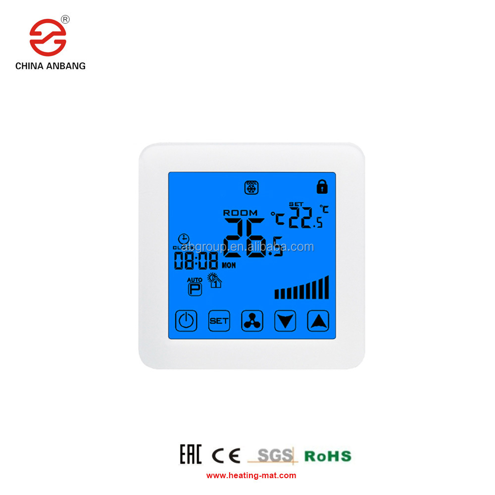 Room Thermostat For Central Air Conditioner Cooling & Heating Temperature Controller Fan Coil Units FCU