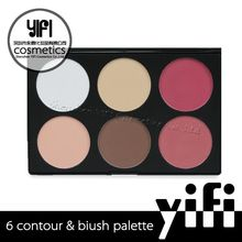 Factory wholesale mineral YIFI 6 color blush palette