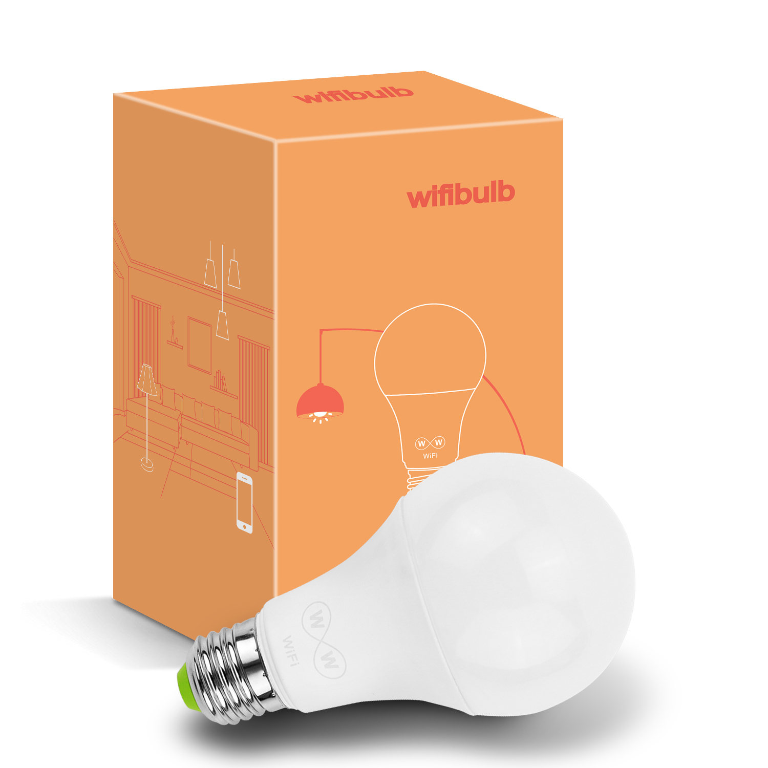 Hot selling smart light 6.5W CCT led bulb with voice control alexa and google home