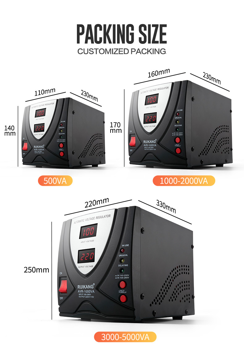 Latest Portable Socket 3000VA Power Stabilizer 220V