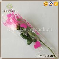 bopp printed material paper packaging sleeves for cut flowers