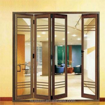 Aluminio laminado fuelle enmarcado puerta dise o plegable - Puerta de fuelle ...