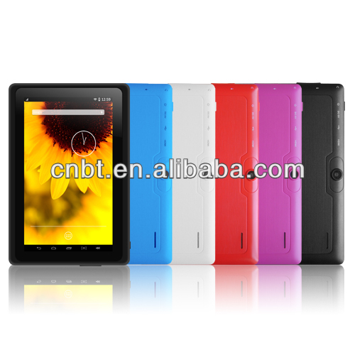 "Cheapest 7"" tablet Q88 Android Super thin 10 colours tablet pc"