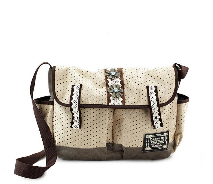 New Hot Soft Canvas Shoulder Bag With High Quality Retro Women Canvas Handbags Messenger Bag