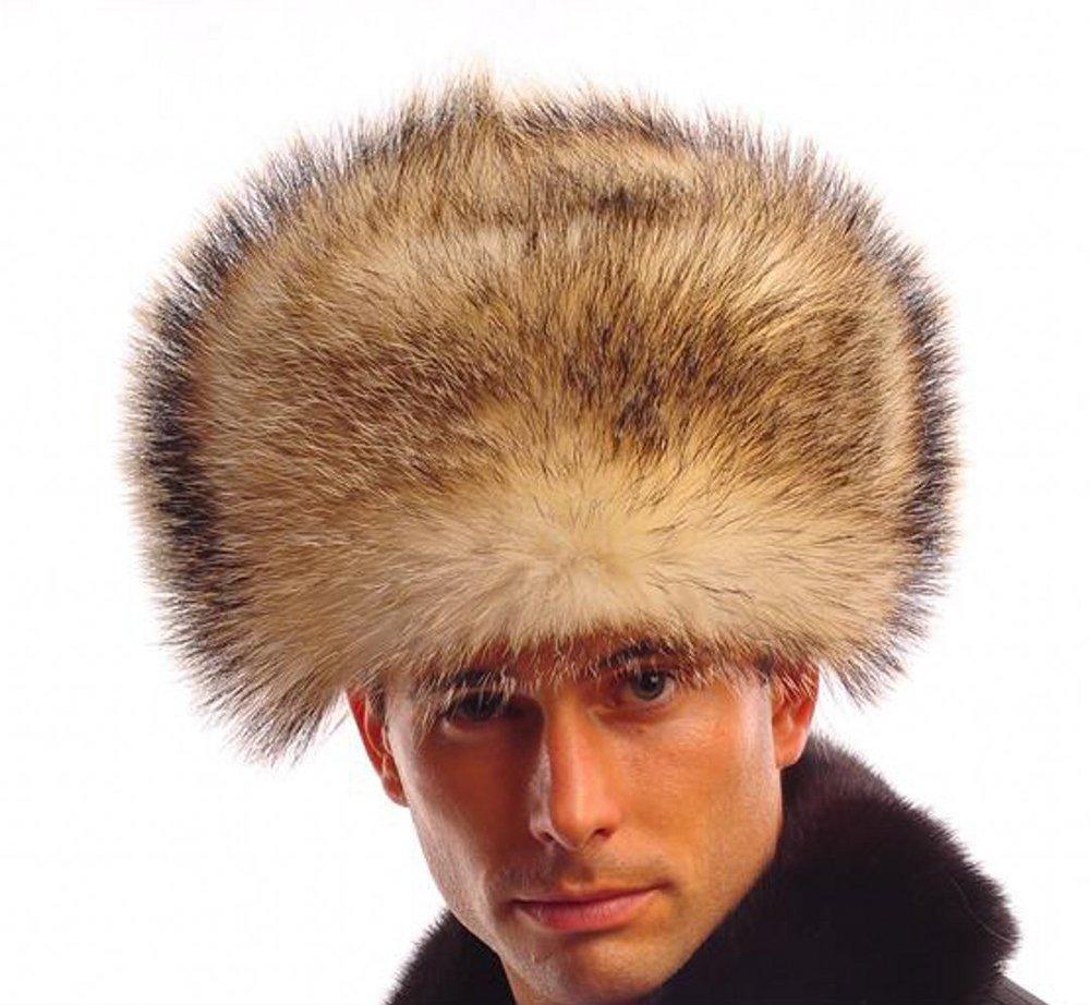 Get Quotations · Men s Fin Raccoon Fur Russian Ushanka Hats Bomber Hats  Brown Z88 bbc29b1245db