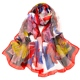 PEIHANLI best-seller fashion women long shawl floral beach stole print soft thin lady Sunscreen georgette scarf