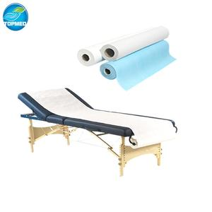Disposable Medical examination bed paper roll with perforation for hospital/spa beauty /clinic/hotel with free