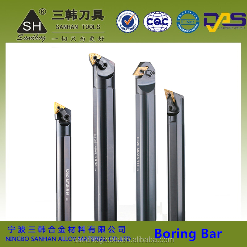 CNC cylinder boring bar, lathe metal cutting tool holder with tungsten carbide turning inserts TNMG WNMG