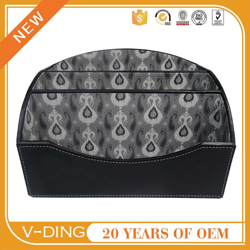 vding office supplies china supplier best selling products Leather feather printed Neri office storage