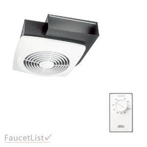 """Broan 503 8"""" 160 CFM Wall or Ceiling Mount Side Discharge Utility Ventilation Exhaust Fan INCLUDES Dehumidistat Automatic Humidity Sensing Wall Control Kit"""
