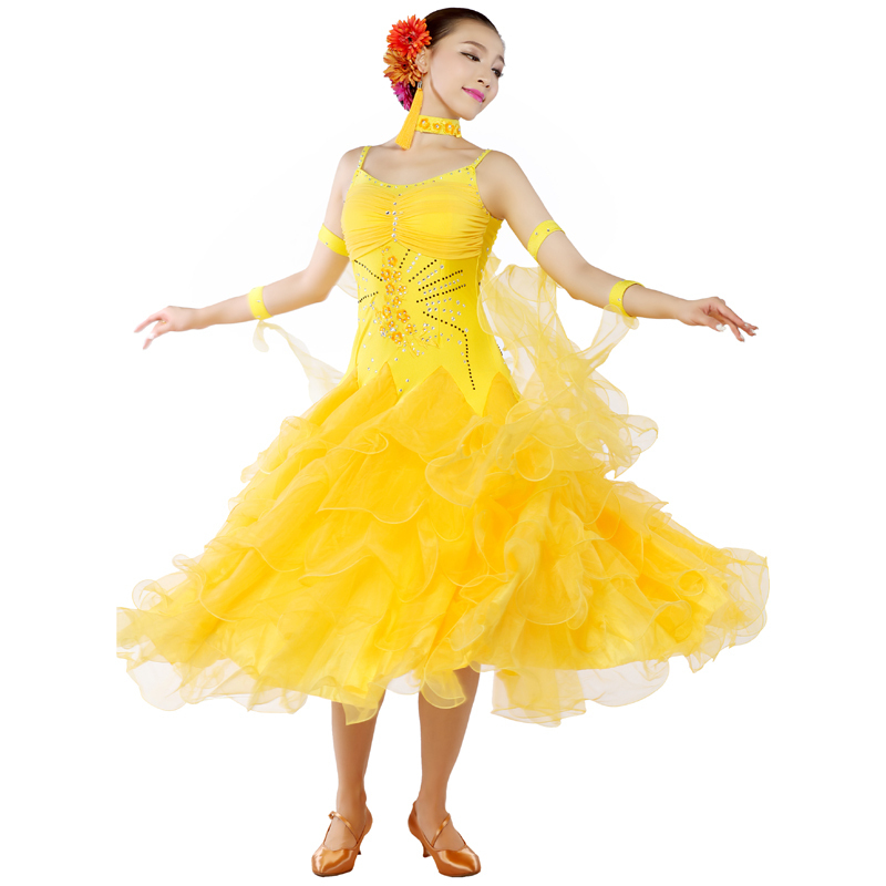 64ca04796118 Women Standard Ballroom Dress for Ballroom Dancing Tango Dress Waltz Dance  Dress Robe De Bal Escapulario