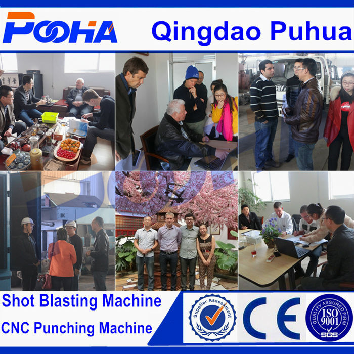 Q37 Hook Type Sand Blasting Machine For Small Casting From Qingdao Puhua