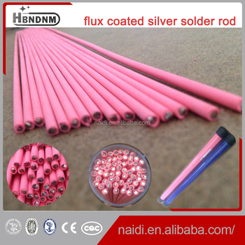 All Kinds Of High Quality Silver Brazing Rod Pink Flux Coated